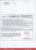 Garančný list 2014-2015